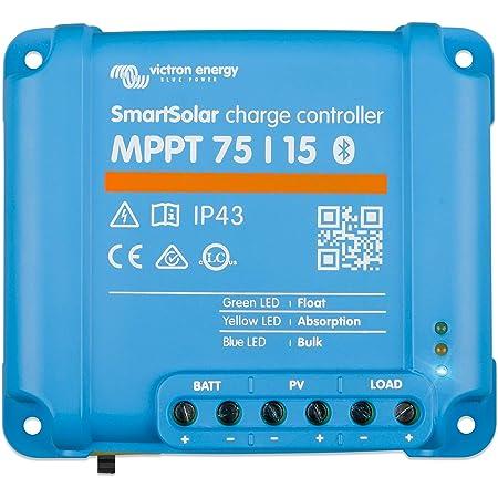Victron Energy SmartSolar MPPT 75V 15 amp 12/24-Volt Solar Charge Controller (Bluetooth)