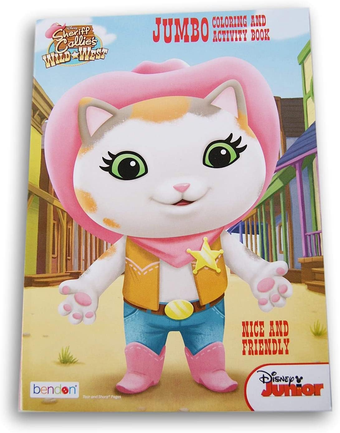 Sheriff Callie Nice and Friendly Activity Book 96 - Max 82% OFF Coloring San Francisco Mall