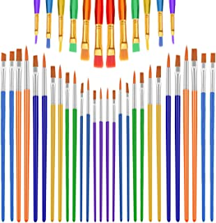 anezus Paint Brushes for Kids, 40 Pieces Kids Paint Brushes Small Acrylic Artist Paint Brushes for Face Acrylic Watercolor Party Art Class Painting