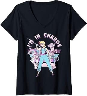 Womens Disney Pixar Toy Story Little Bo Peep I'm In Charge V-Neck T-Shirt