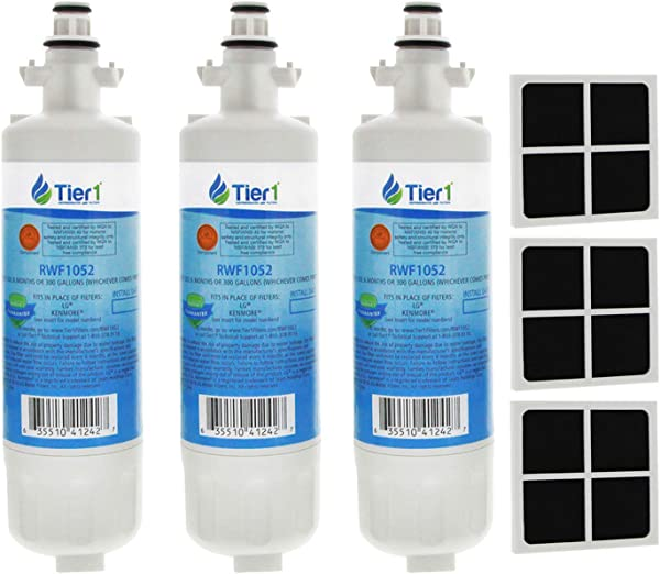 Tier1 Replacement For LG LT700P ADQ36006101 ADQ36006102 Kenmore 46 9690 And LT120F Water And Air Filter Combo 3 Pack