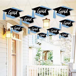 Big Dot of Happiness Hanging Light Blue Grad - Best is Yet to Come - Outdoor Light Blue Graduation Party Hanging Porch and...