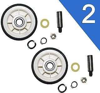 2 Pack Dryer Roller Wheel Drum Support Kit 303373K for 12001541 312948