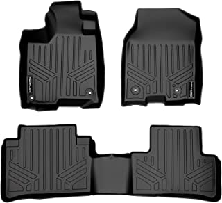 SMARTLINER Custom Floor Mats 2 Row Liner Set Black for 2013-2018 Acura RDX with 8-Way Front Passenger Seat Technology Package