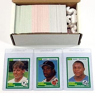 1989 Score Football Near Set (328/330) Avg Nm Deion Barry Sanders Aikman RC's - Football Cards
