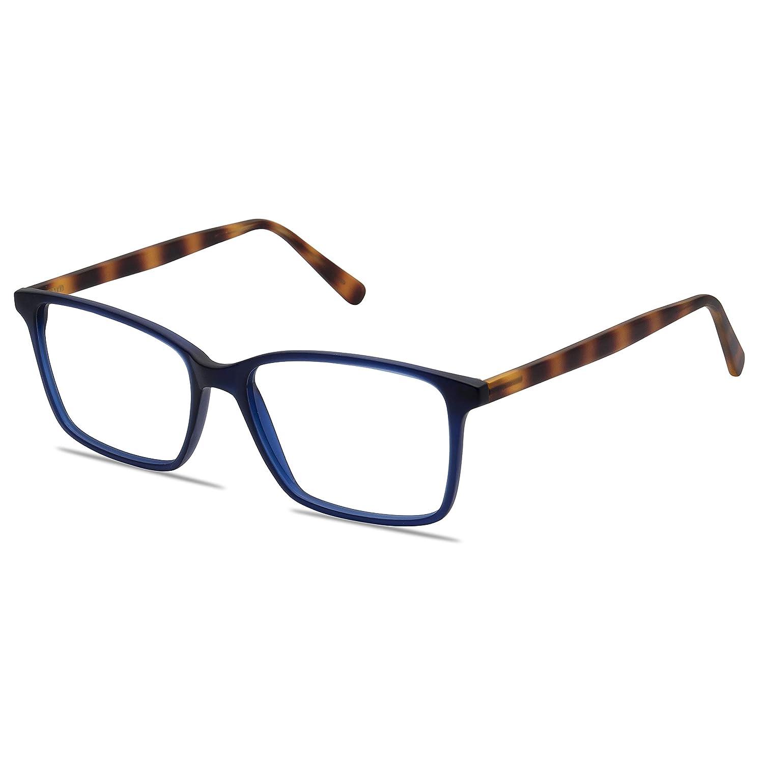 Blue Light Blocking Glasses with Anti-Glare,Cut UV400 Transparent Lens,Computer Reading Glasses,Anti Eyestrain/Anti Scratch/Anti Smudgy,Sleep Better for Women/Men WR12 (Navy Blue)