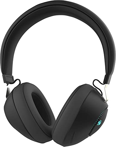 Zebronics Zeb Duke Bluetooth Headphone with Voice Assistant Support Multifunction Button AUX Input and RGB Lights Black