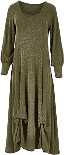 Boho Bird Womens Maxi Dresses Gather Me Up Knit Dress Olive - Dresses