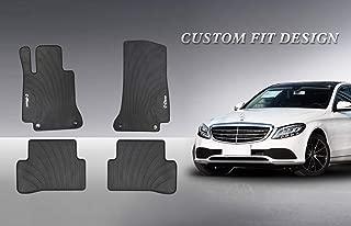HD-Mart Car Floor Mat for Mercedes-Benz C-Class W205 S205 2013-2014-2015-2016-2017-2018-2019 Custom Fit Rubber Black Auto Floor Mats All Weather Heavy Duty & Odorless
