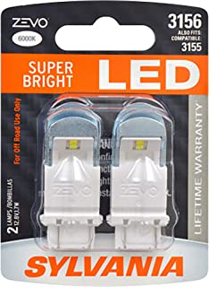 SYLVANIA - 3156 ZEVO LED White Bulb - Bright LED Bulb, Ideal for Daytime Running Lights (DRL) and Back-Up/Reverse Lights (Contains 2 Bulbs)