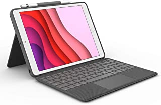 Logitech Combo Touch for iPad (7th and 8th Generation) Keyboard case with trackpad, Wireless Keyboard, and Smart Connector...