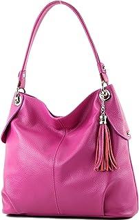 Damen Handtasche Tasche Schultertasche 3909 Creme