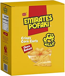 Emirates Pofaki Cheese Crispy Corn Curls, 25 x 15 gm