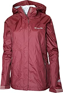 Columbia Women Gable Pass Waterproof Omni-Tech Rain Full-Zip Jacket