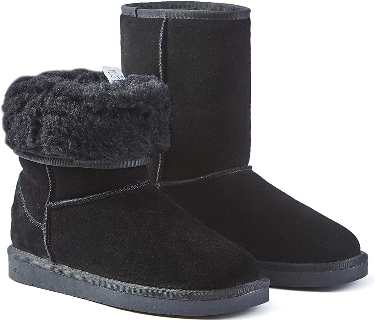 Women's Classic Snow Boots Fur Lined Ankle Bootie Warm Short Boots Winter Shoes