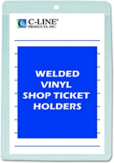 C-Line Vinyl Shop Ticket Holders, Both Sides Clear, 5 x 8 Inches, 50 per Box, (80058)