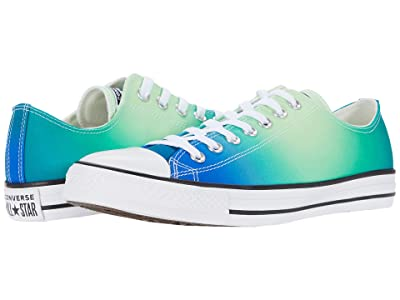 Converse Chuck Taylor All Star Ombre Wash Ox (Game Royal/Malachite/White) Lace up casual Shoes