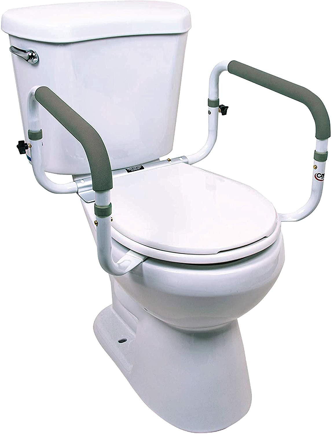 Carex Toilet Safety Frame - Toilet Safety Rails With Adjustable Width