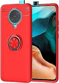 حافظة MOONCASE لجهاز Xiaomi Poco F2 Pro، حافظة سيليكون لينة من TPU مع حلقة حامل غطاء امتصاص الصدمات لجهاز Xiaomi Poco F2 P...