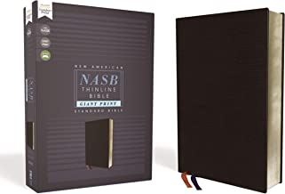 NASB, Thinline Bible, Giant Print, Bonded Leather, Black, Red Letter Edition, 1995 Text, Comfort Print