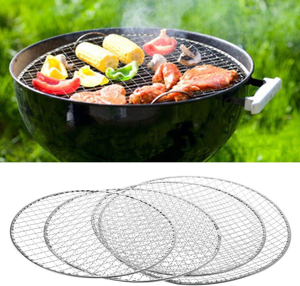 Angelliu Grille Barbecue Weber Jetable Résistance Thermique Antiadhésive en Acier Inoxydable Protection Grille Barbecue pour Cuisson en Plein Air 03