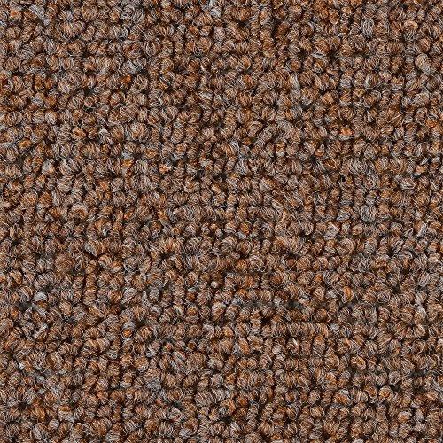 Teppichboden Auslegware | Schlinge gemustert | 400 und 500 cm Breite | hell-braun | Meterware, verschiedene Größen | Größe: 4,5 x 5m