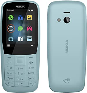 Nokia 220 4G (Official Australian Version) 2019 Basic Unlocked Mobile Phone with Keypad, Camera, FM Radio and Games, Blue