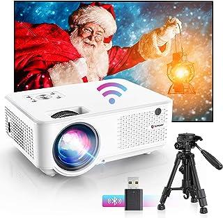 "Bomaker Proyector WiFi, Proyector Portátil, 7000 Brillo, Soporta 1080p Full HD, Cine en Casa 300"" Duplicar Pantalla para A..."