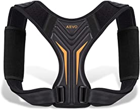 AEVO Compact Posture Corrector for Men and Women, Adjustable Upper Back Brace for Clavicle Support, Neck, Shoulder, and Ba...