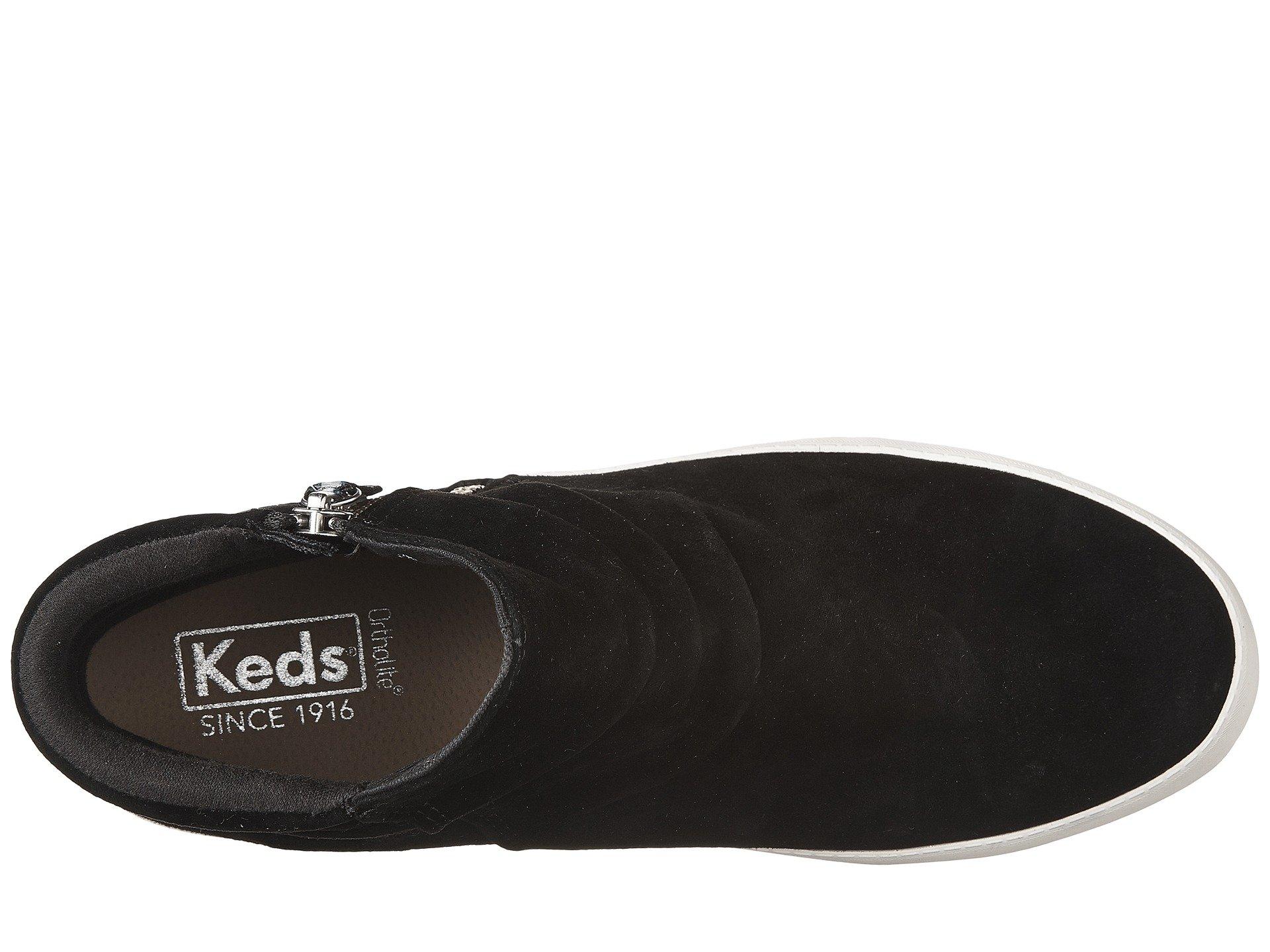 Keds Midtown Zip Suede Women S Shoes Black