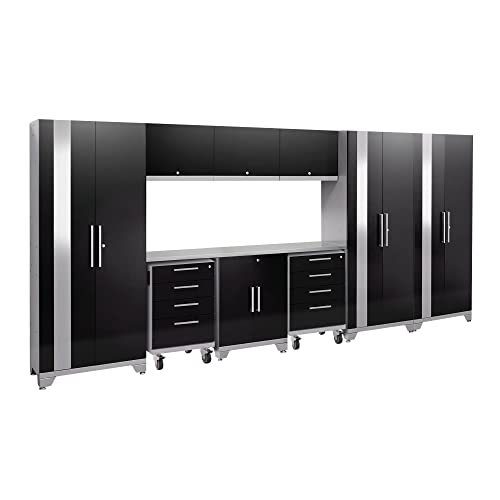 Attirant NewAge Products Performance 2.0 Black 10 Piece Set, Garage Cabinets, 53663