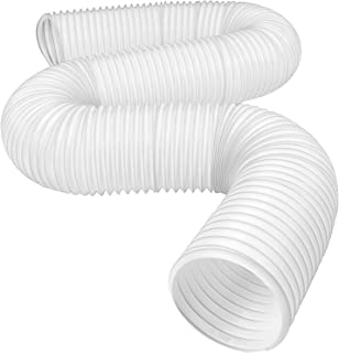 Hotop Portable Air Conditioner Exhaust Hose 5 Inch Diameter Counterclockwise Vent Hose Replacement (78.7 Inch Length)