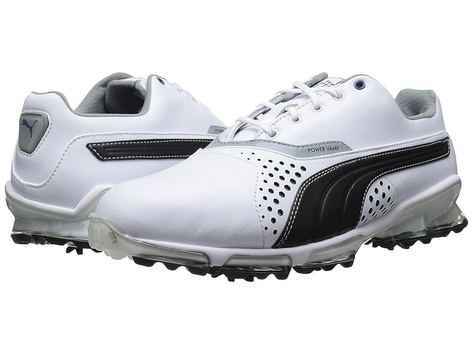 PUMA Golf Titantour (White/Black) Men's Golf Shoes