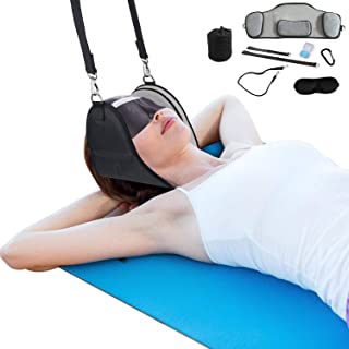 Neck Relief Hammock,Neck Traction Devices for Home Use& Doorknob, Neck Pillows Cervical Traction, Y strap Back Stretcher f...