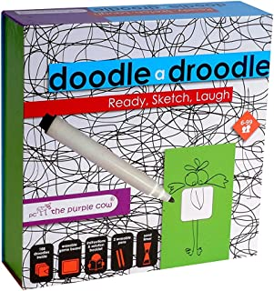 The Purple Cow- Interactive Drunkie Doodle Game- Droodle A Drinking & Drawing Game - Drink. Sketch. Laugh