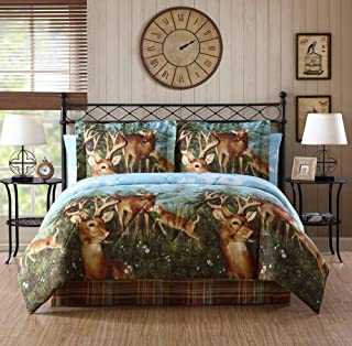 Ellison First Asia 20671802BB-MUL Deer Creek Bed in a Bag Comforter Set44; Brown - Full Size44; 8 Piece