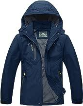 MAGCOMSEN Men's Lightweight Softshell Spring and Fall Sportswear Windbreaker Windproof Jacket Hooded Raincoat