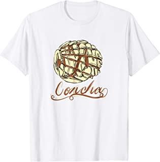 Concha Mexican Bread Sweet Pastry T Shirt Gift