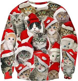Goodstoworld Unisex Ugliest Christmas Pullover Sweatshirt 3D Unique Print Graphic Tops S-3XL