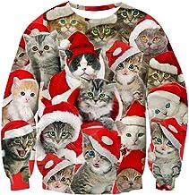Goodstoworld Unisex Ugliest Christmas Sweatshirt 3D Unique Graphic Pullover Jumper S-3XL