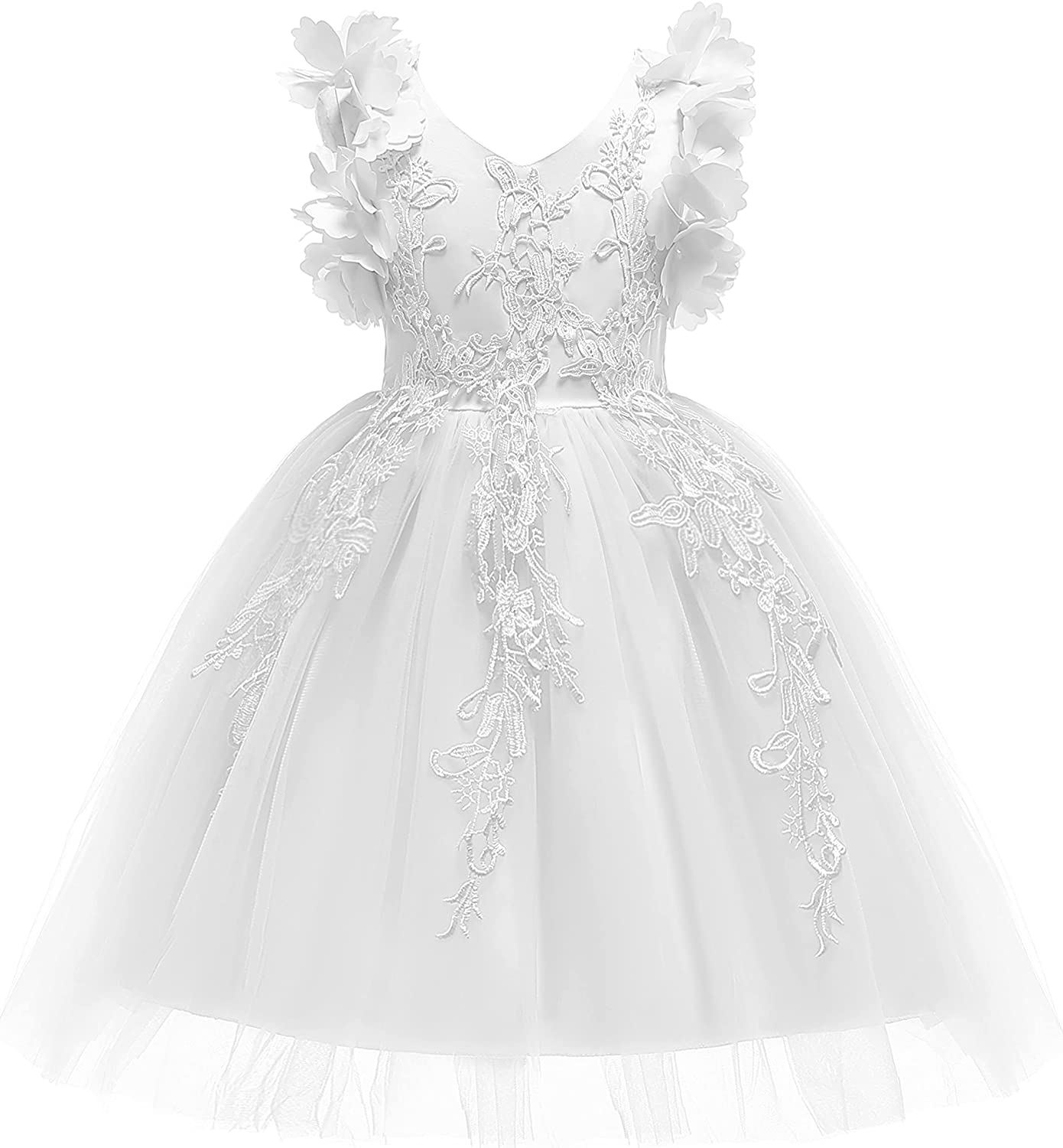 Weileenice 3-9T Ranking Branded goods TOP17 Flower Girl Lace Christmas Kids Pa Pageant Dress