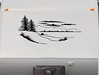 Lake Pine Trees Camping Mountains Motor Home Stripe Kit- RV Stickers - Trailer Stickers- Camper Vinyl Decal- Sticker Graphic- Motorhome Decals- RV Stripe Kit-