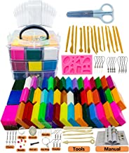 S & E TEACHER'S EDITION 50 Blocks Polymer Clay Set, with Tools, Accessories and Storage Box.
