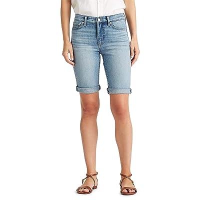 LAUREN Ralph Lauren Stretch Cotton Blend Shorts (Light Indigo Wash) Women