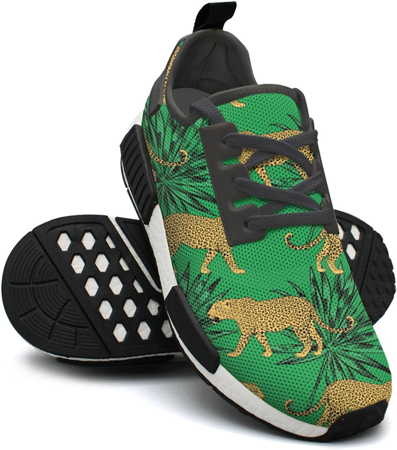 Leopards in colorful Tropical Flowers Fashion Sport Jogging shoes for Women NMD