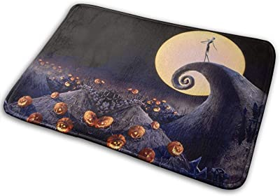The Nightmare Before Christmas2 Large Doormats, Non Slip Durable Washable Home Decorative Door Mats Rugs for Entrance Bedroom Bathroom Kitchen, 23 X 16 Inches
