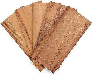 wodewa Placage de Bois 2mm Lot de 5 Plaques 30x14cm I Tigerwood Feuille de Placage Bois Panneau Bois Massif pour Bricolage...