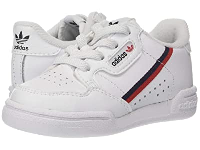 adidas Originals Kids Continental 80 (Toddler) (White/Scarlet/Navy) Kid