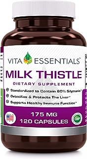Vita Essentials Milk Thistle 175 Mg Capsules, 120 Count