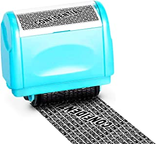 WAFJAMF Rolling Identity Theft Guard Stamp (ID Theft Roller Stamp) Blue